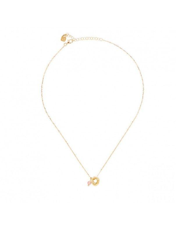 Collar Uno de 50 baño oro Mujer Ciambella Rosa COL1410RSAORO0U