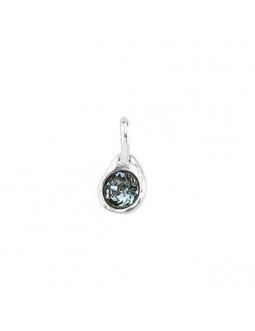 Collar Unode50 letra C + charm blue CHA0029&0079&COL1366