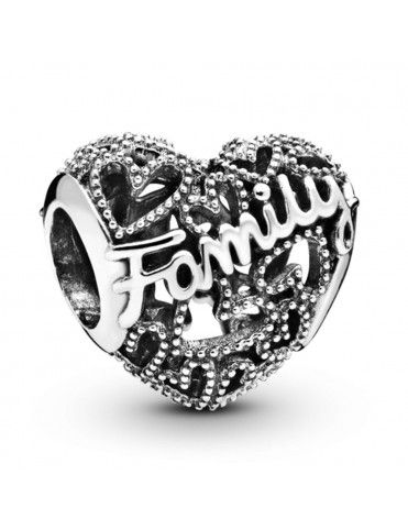 Charm Pandora Plata corazón familia 798571C00