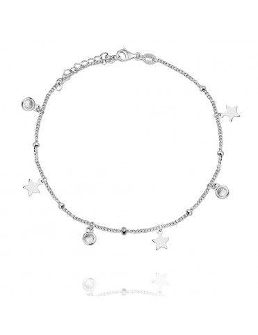 Comprar Pulsera Plata estrellas circonitas Mujer 115365 online