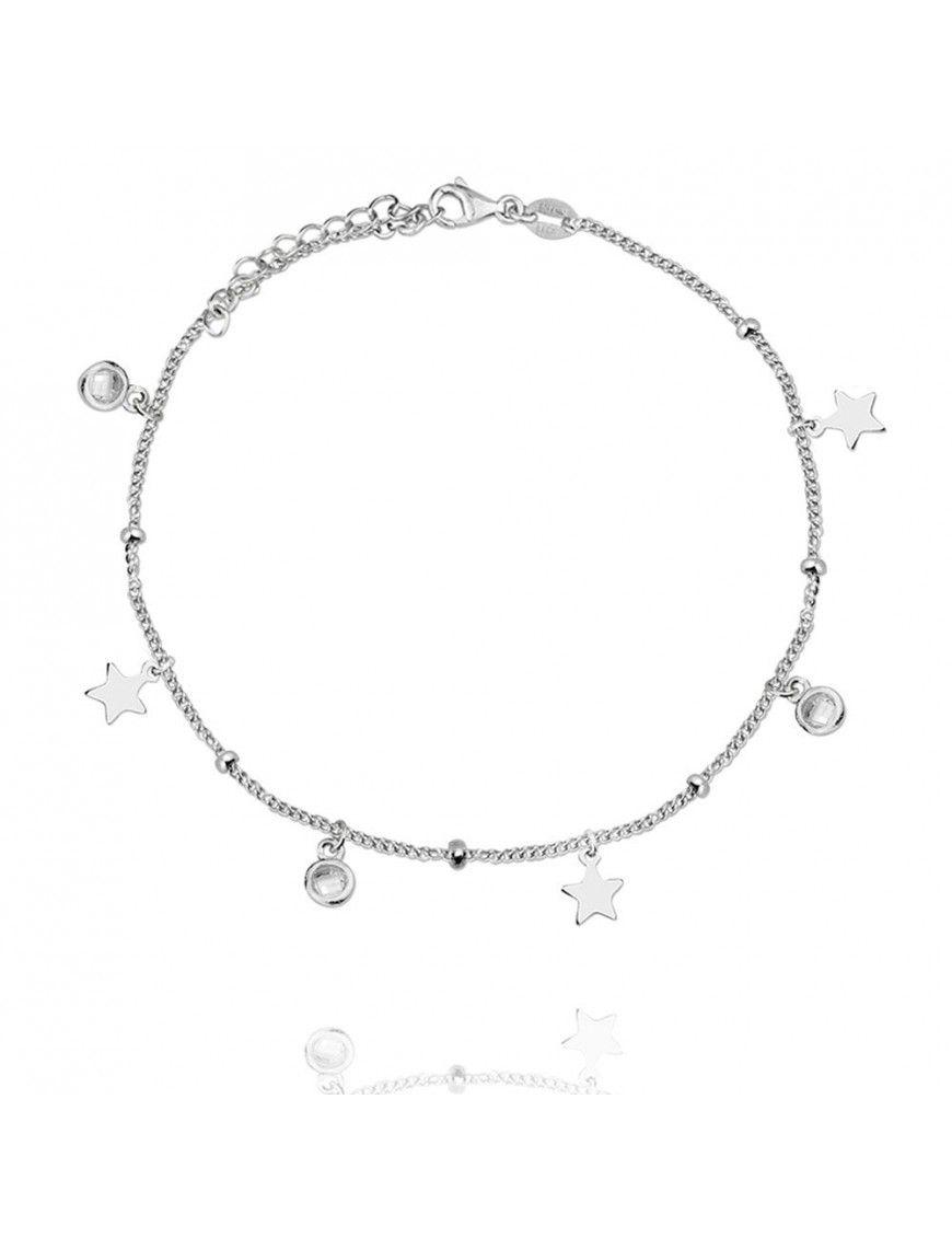 Pulsera Plata estrellas circonitas Mujer 115365
