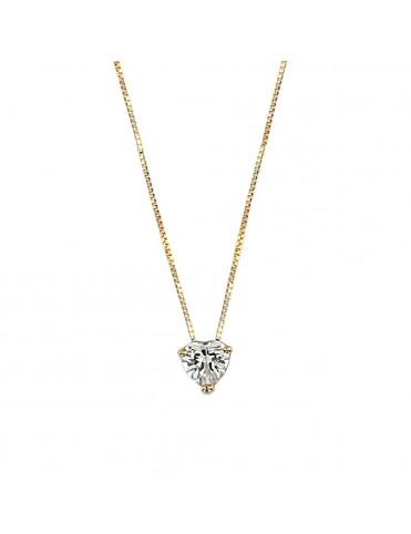 Collar Oro Amarillo circonita corazón 017-03303