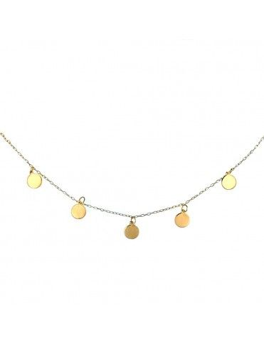 Collar oro amarillo círculos W1156-G