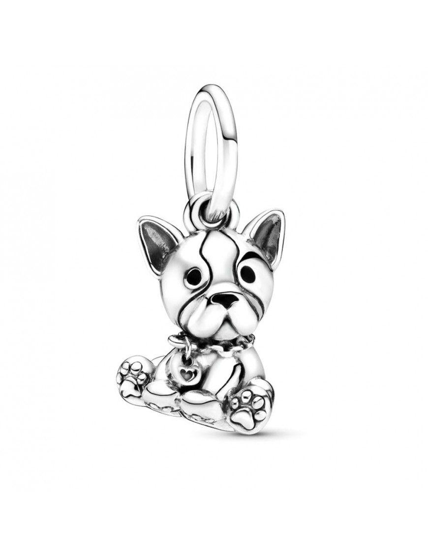 Charm Pandora plata perro colgante Bulldog 798008EN16
