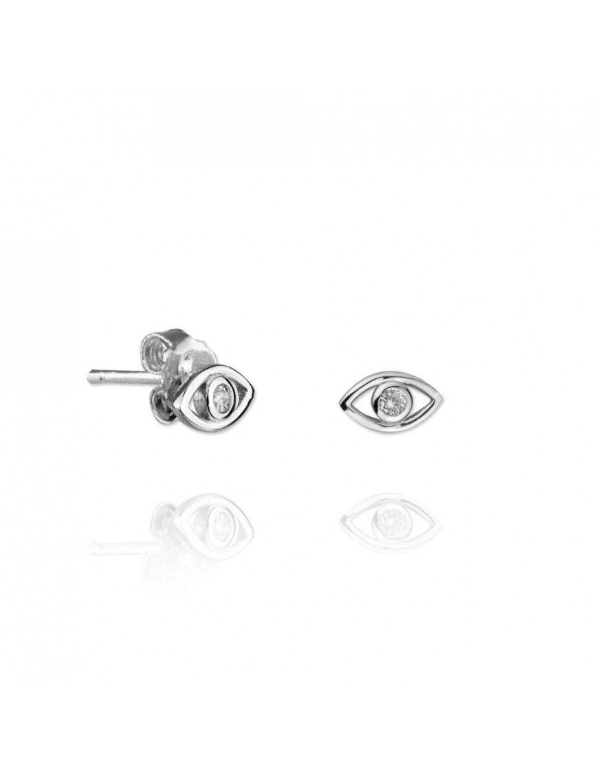 Pendientes Plata Mujer ojo 151456