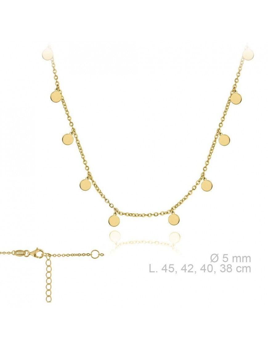 Collar Plata Mujer Círculos 174438