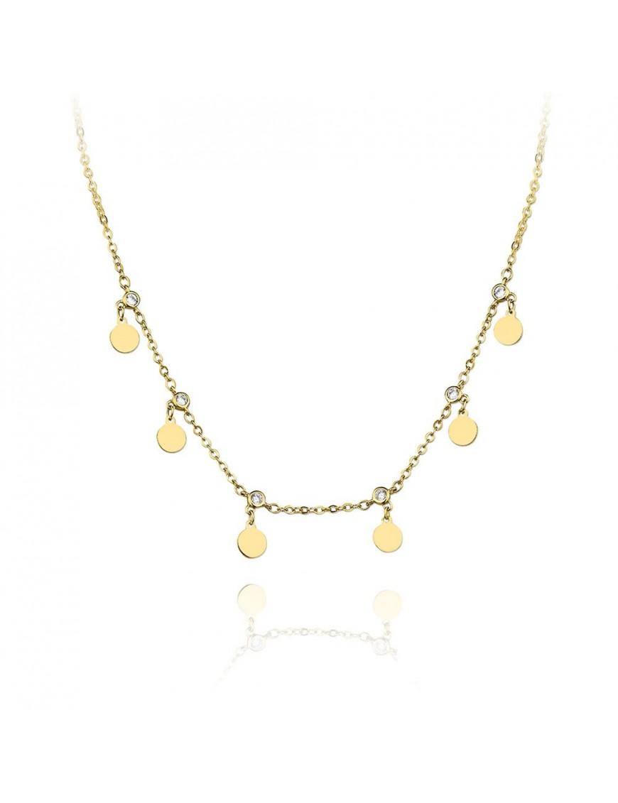 Collar Plata Mujer círculos 174648