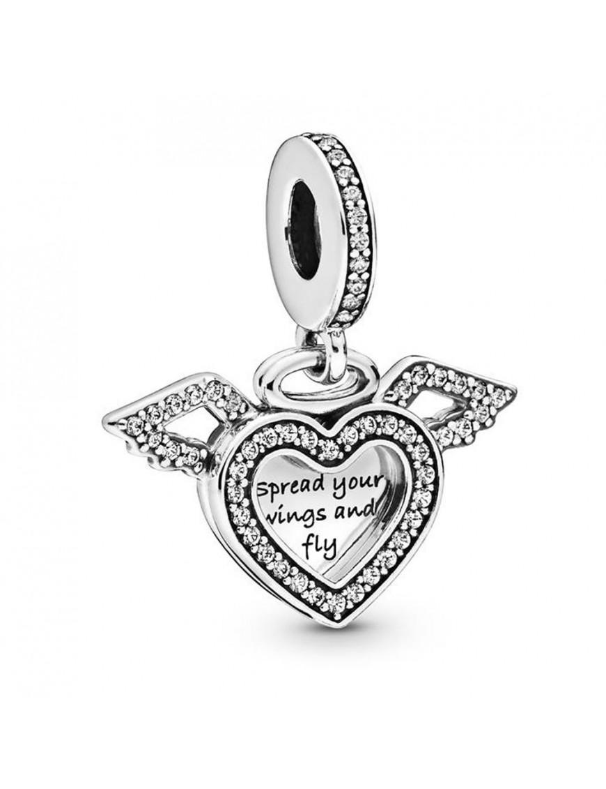 Charm Pandora colgante Corazón & Alas de Ángel 798485C01