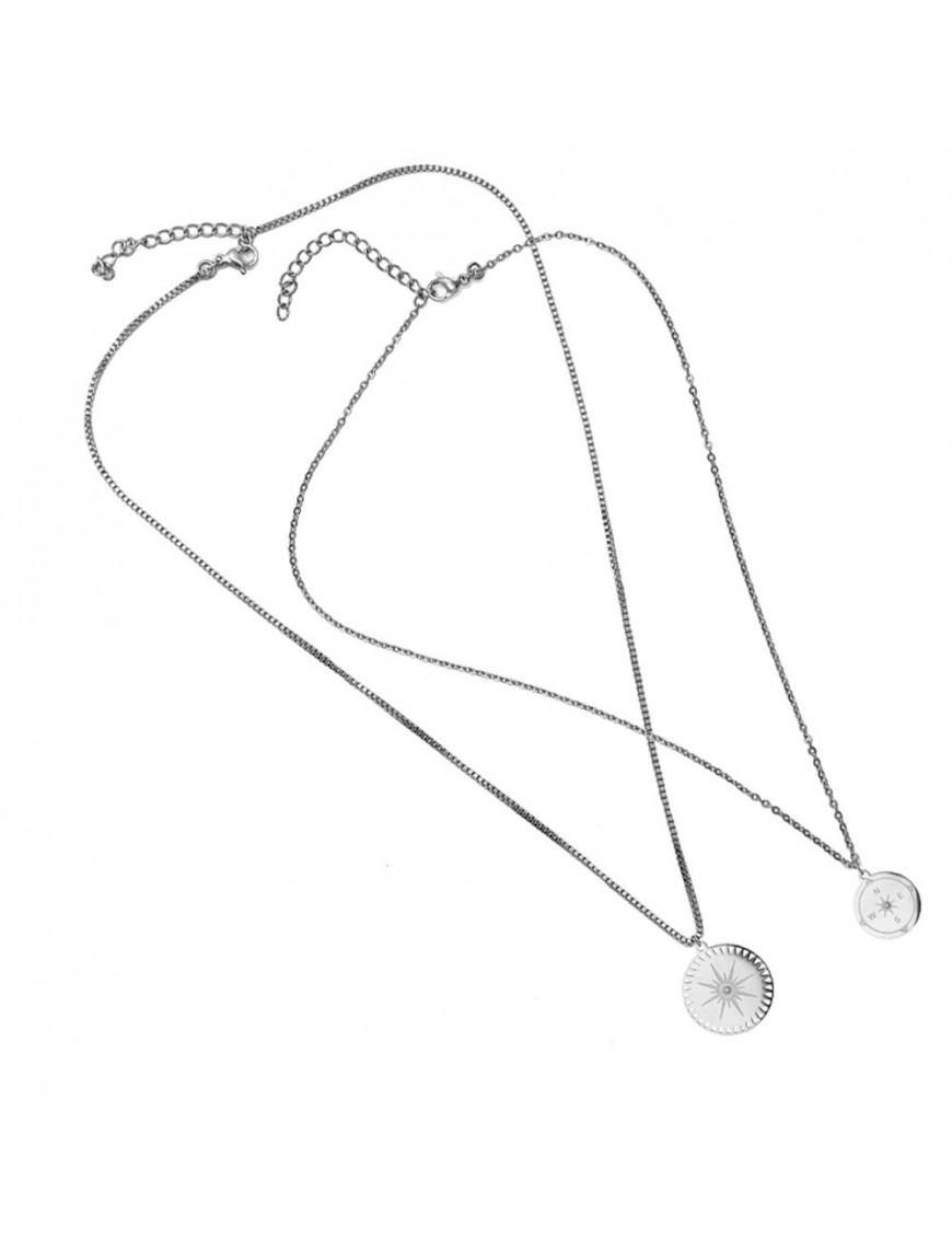 Collar doble Anartxy Acero Mujer COA792