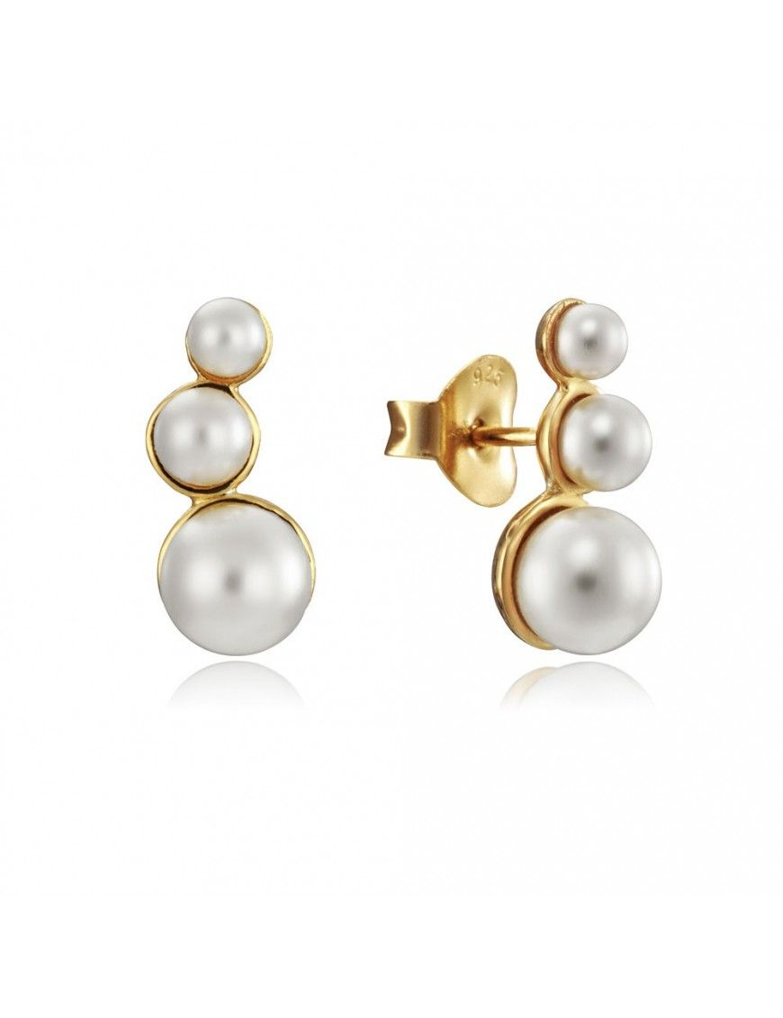 Pendientes Viceroy Plata 3 perlas Mujer 4083E000-66
