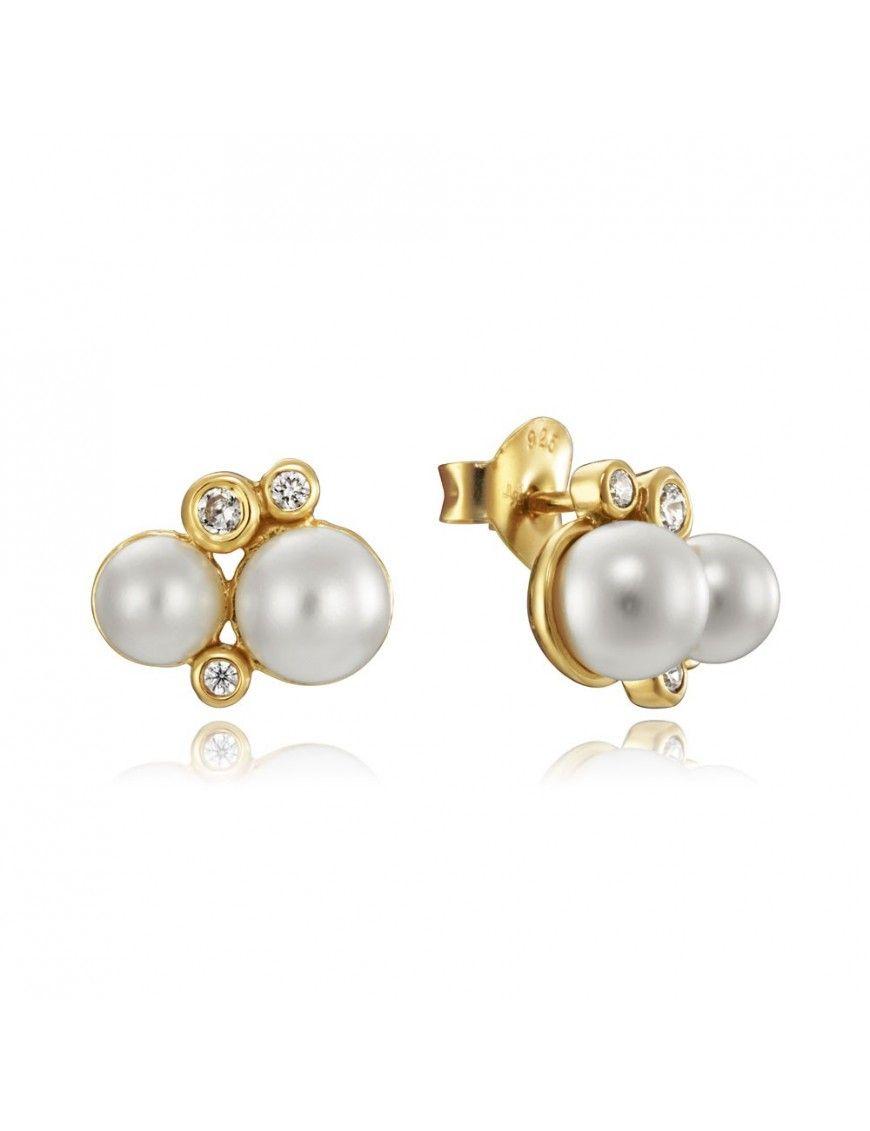 Pendientes Viceroy Plata 2 perlas Mujer 4084E100-66