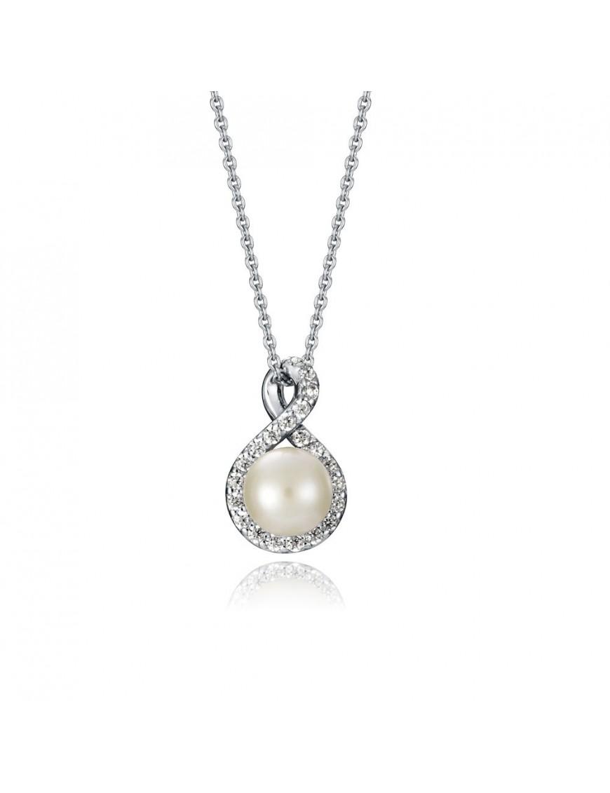 Collar Viceroy Plata perla colgante Mujer 71023C000-38