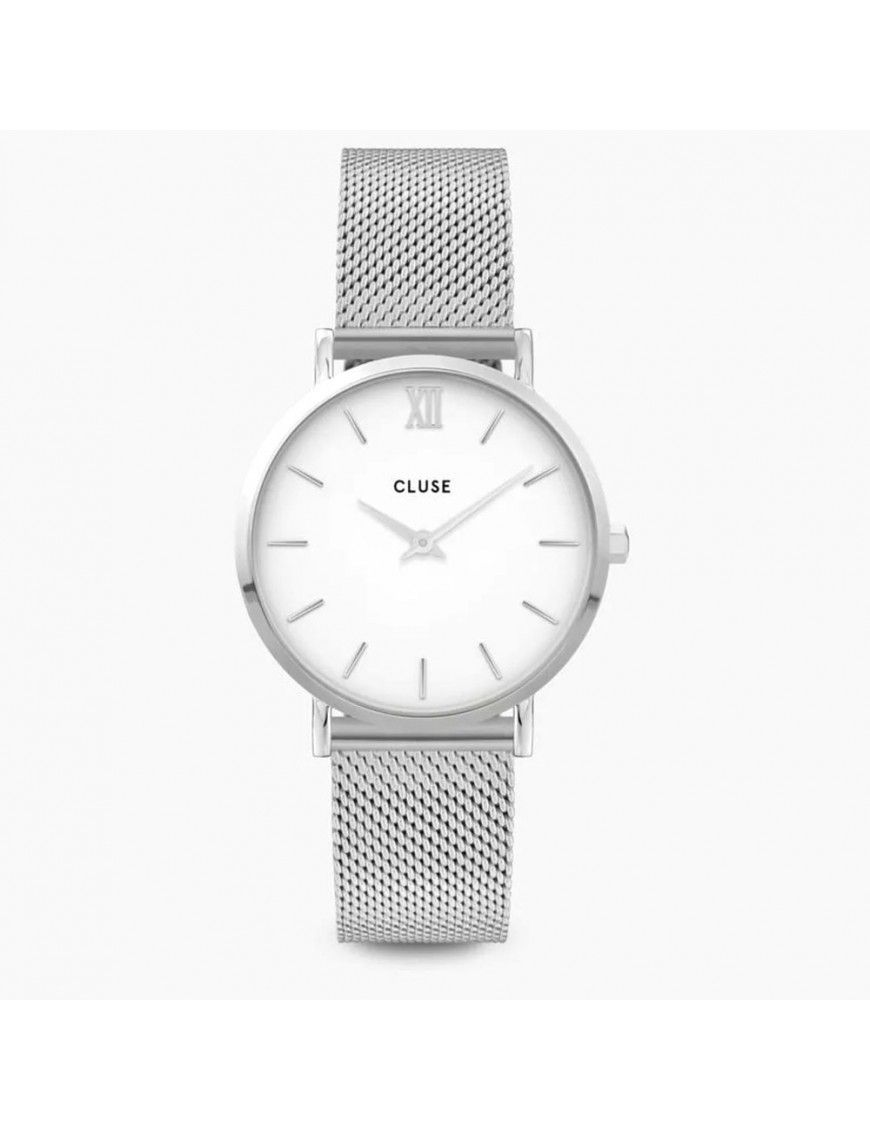 Reloj Cluse Minuit Mesh Silver Mujer CW0101203002