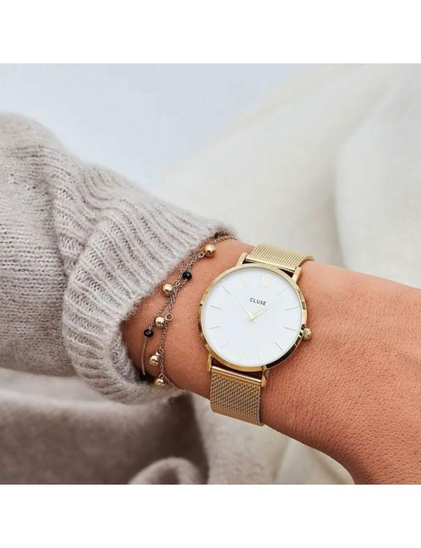 Reloj Cluse Minuit Mesh Silver  Mujer CW0101203007