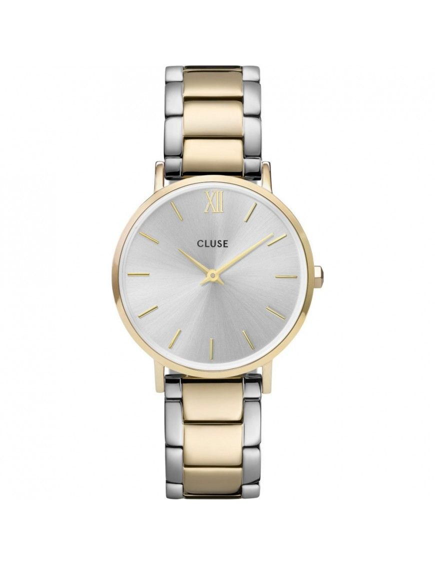 Reloj Cluse Minuit Link Gold Silver Mujer CW0101203028