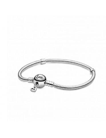 Comprar Pulsera Moments Pandora plata Cierre de Corazón 598698C00-17 online