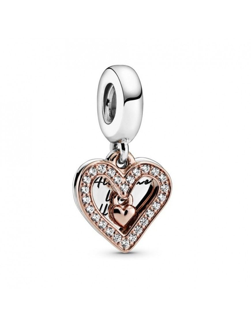 Charm Padora plata Colgante Boceto de Corazón Brillante 788693C01