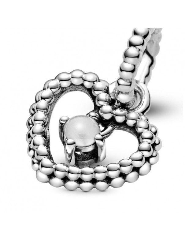 Charm colgante Pandora plata con esferas blanco 798854C04