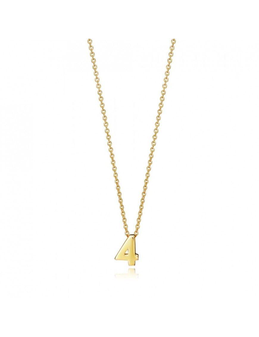 "Collar Viceroy Plata Mujer Número ""4"" 61041C000-04"