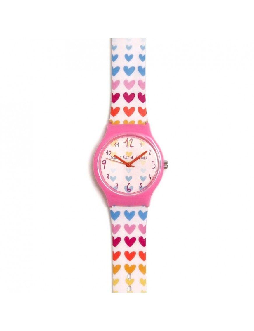 Reloj Agatha Niña Corazones fila colores AGR264
