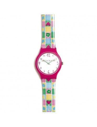 Reloj Agatha Niña Flip Vichy multicolor AGR270