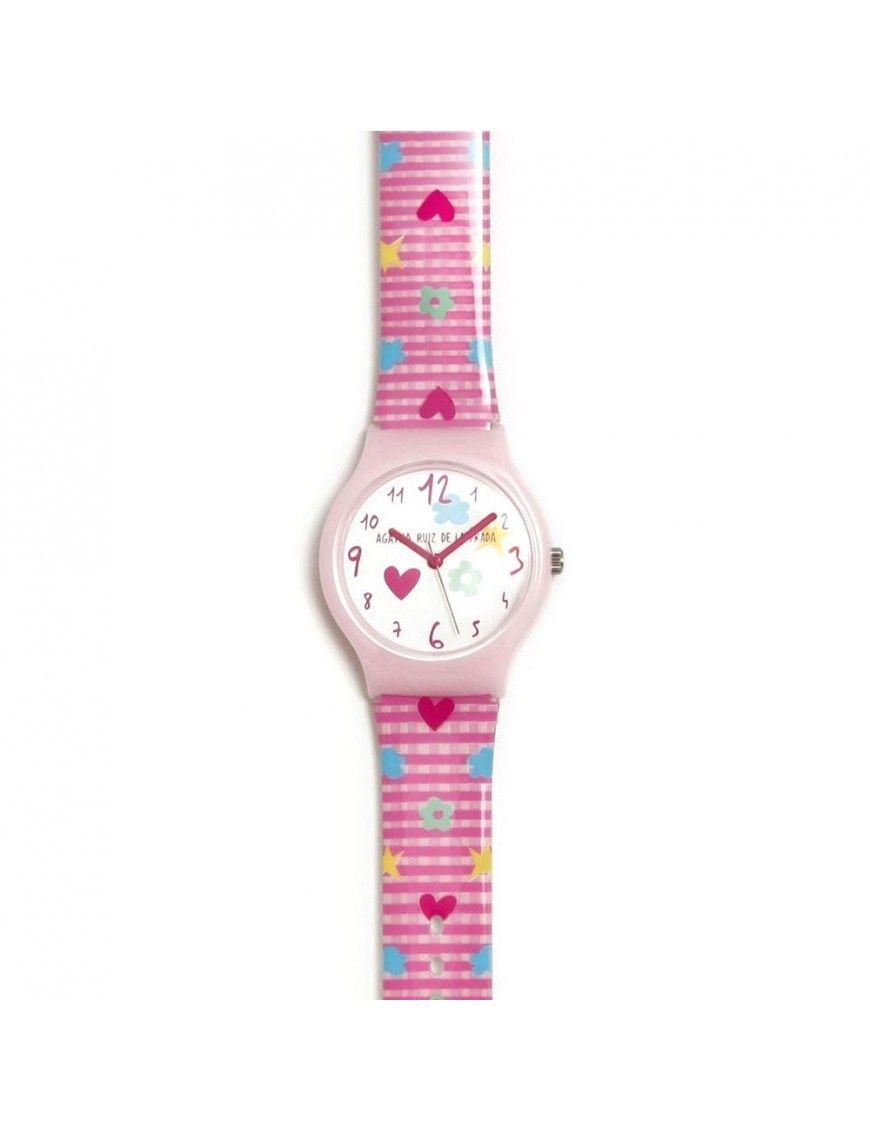 Reloj Agatha Niña Flip Vichy rosa AGR271