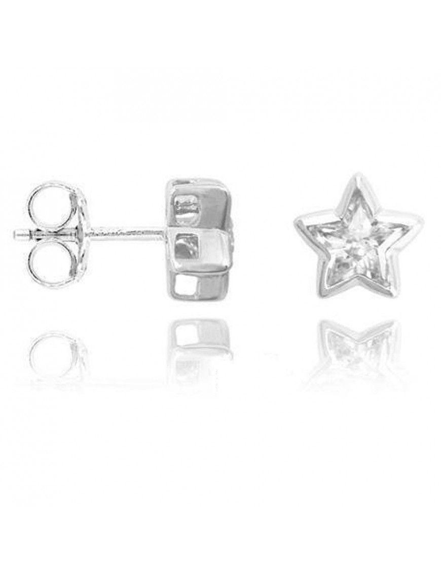 Pendientes Plata Mujer Estrella Circonita 147856