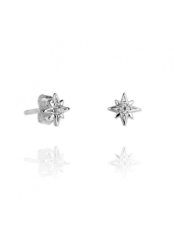 Pendientes Plata Mujer Estrella Circonita 151309