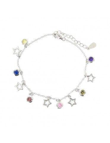 Comprar Pulsera plata Mujer Estrella circonitas 9108270 online