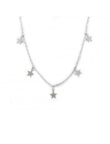 Collar plata Mujer Estrellas colgantes 9109138