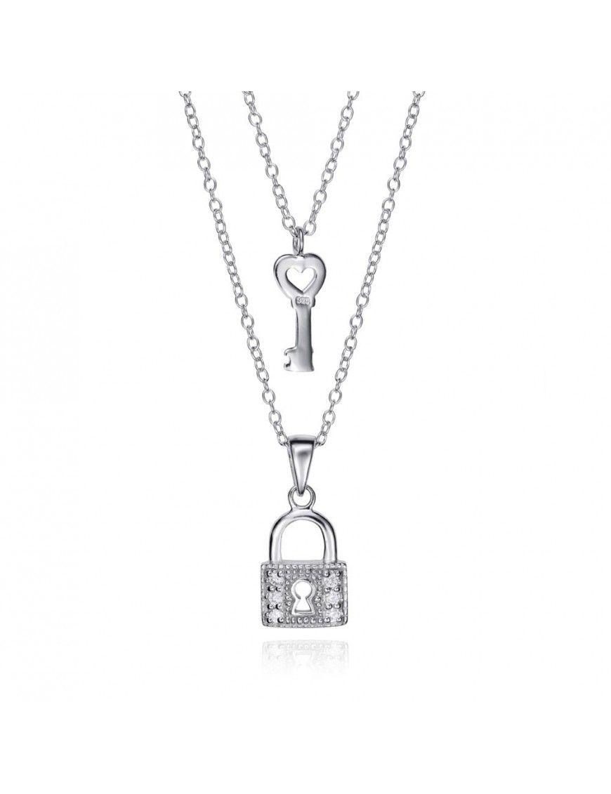 Collar Viceroy Doble Plata Candado y llave Mujer 5091C000-30