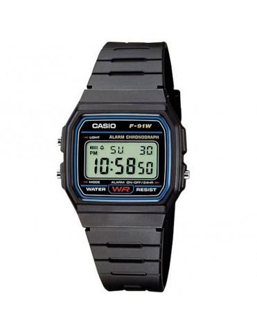 Reloj Casio Unisex Cronógrafo F-91W-1YER