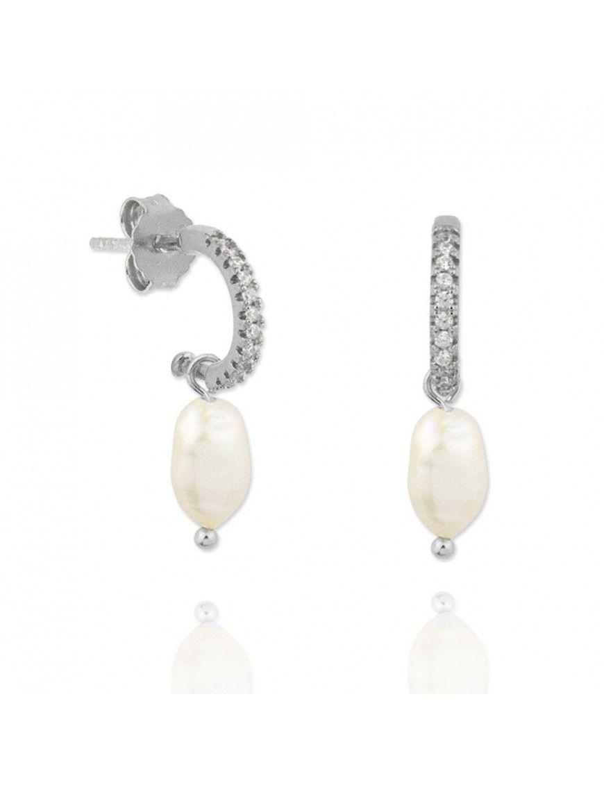Pendientes plata con perla 151765