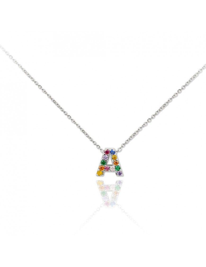 Collar plata letra A 175020