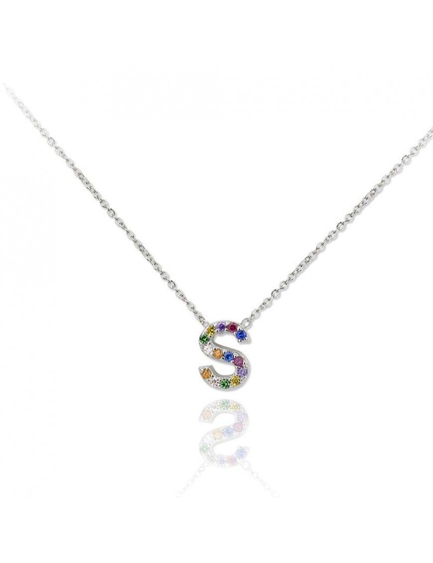 Collar plata letra S 175052