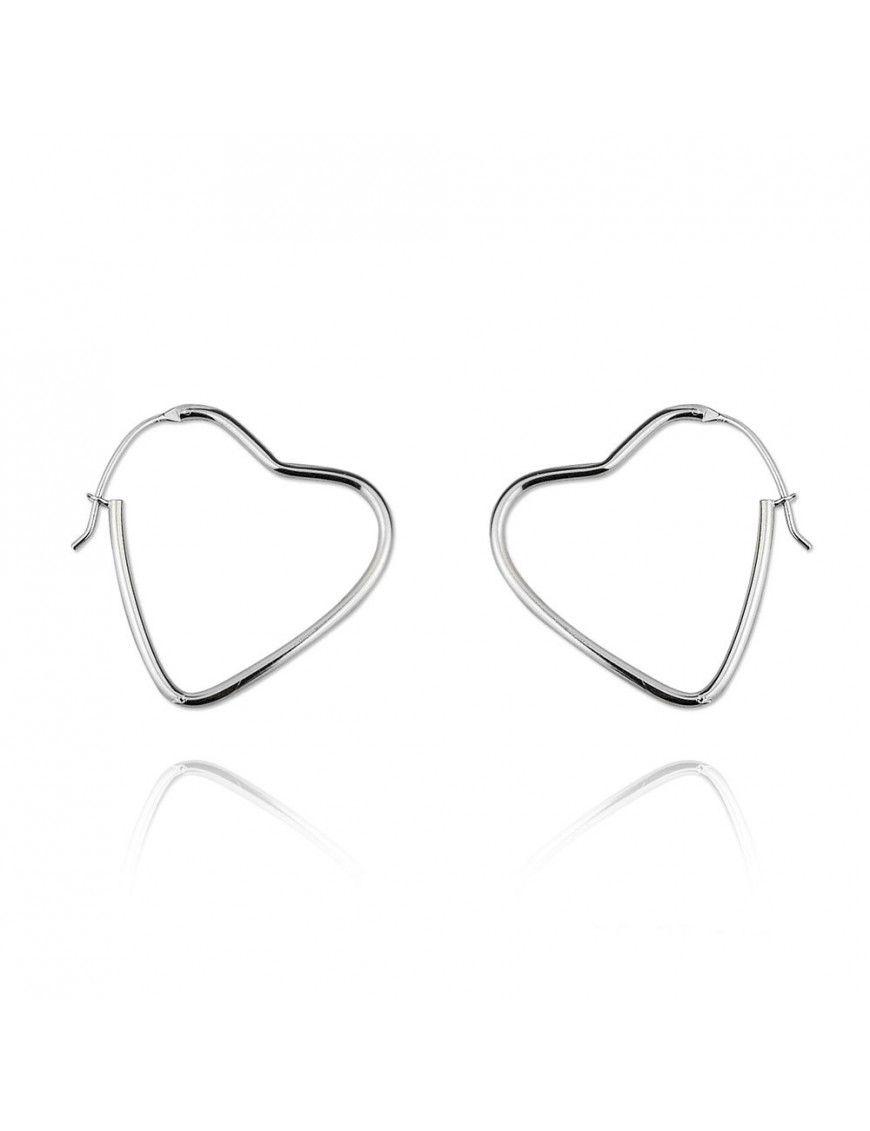 Pendientes de plata corazón V00194