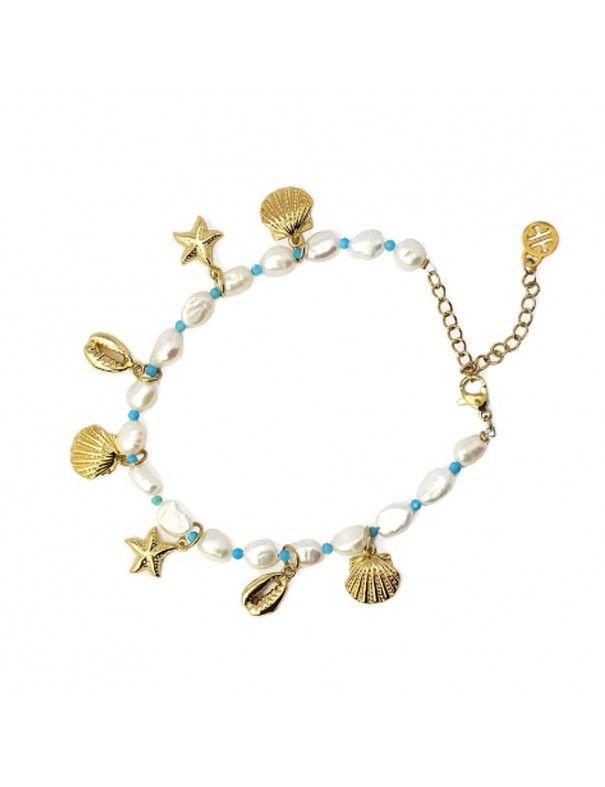 Pulsera Anartxy acero perlas APU994