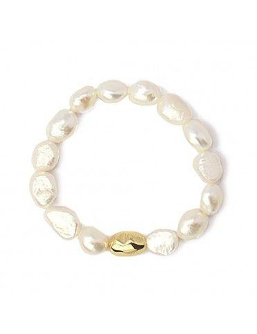Pulsera Anartxy con perlas y acero APU996