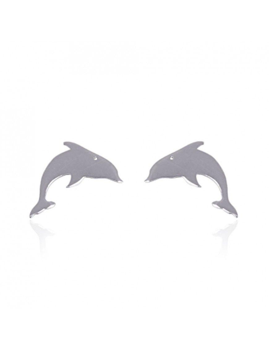 Pendientes Anartxy acero delfín BPE357PL