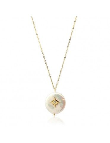 Collar Anartxy acero perla COA773