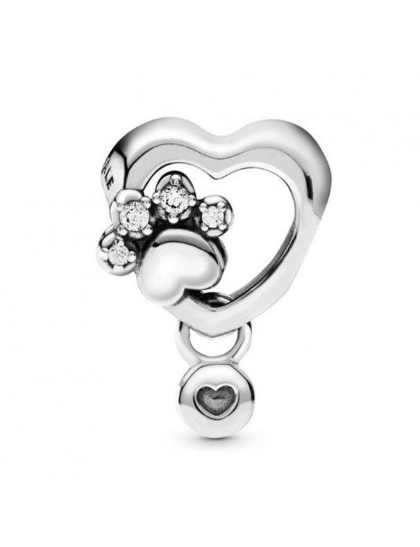 Charm Pandora Corazón y Huella 798873C01