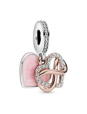 Charm Pandora Rose Corazón Infinito Brillante 788878C01