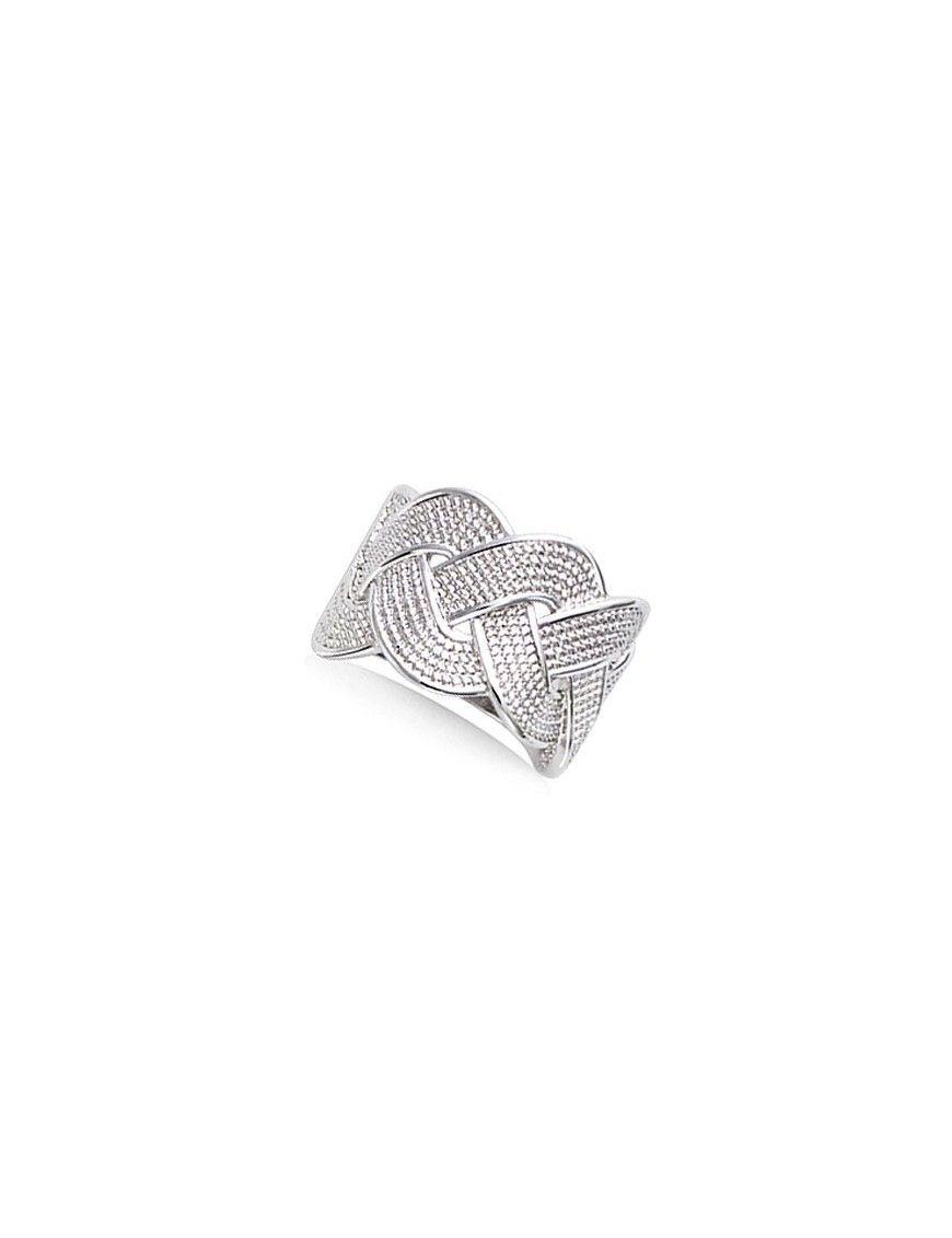 Anillo plata trenzado ancho 11EX0550