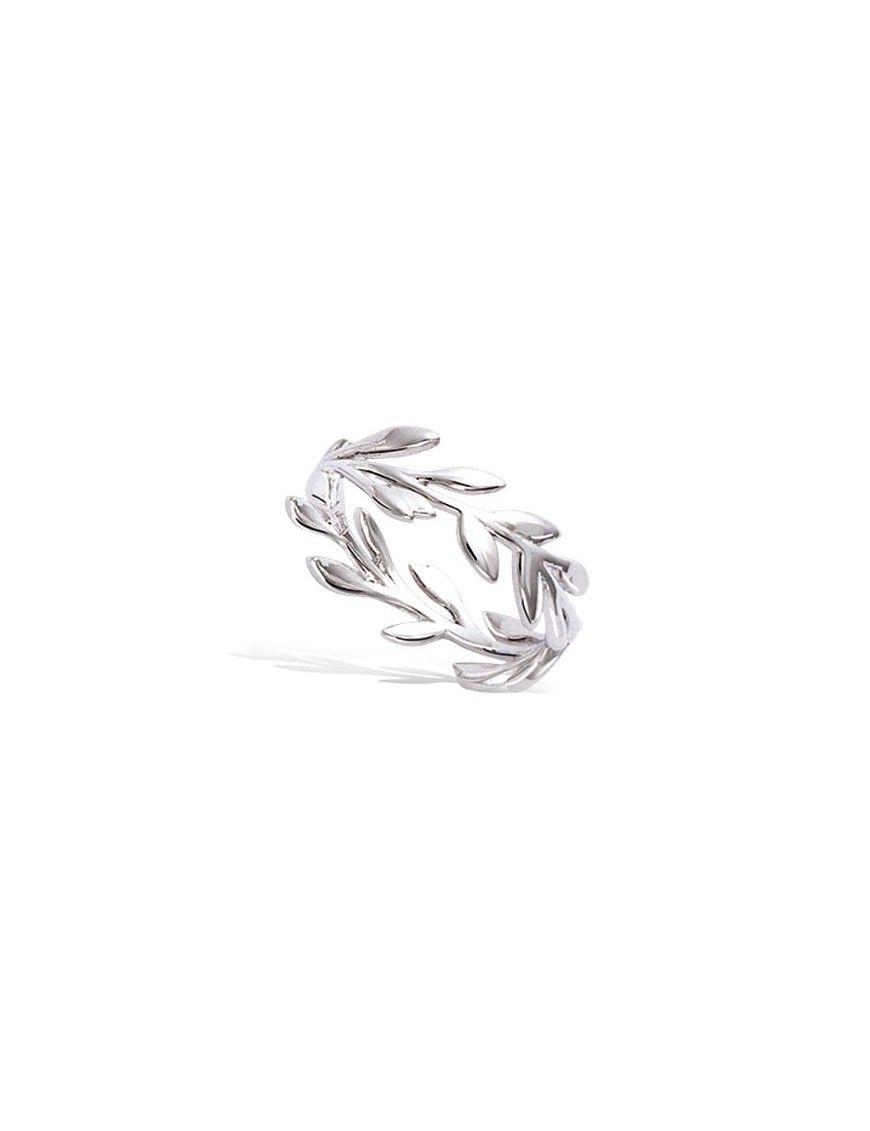 Anillo plata hojas 11EX0770