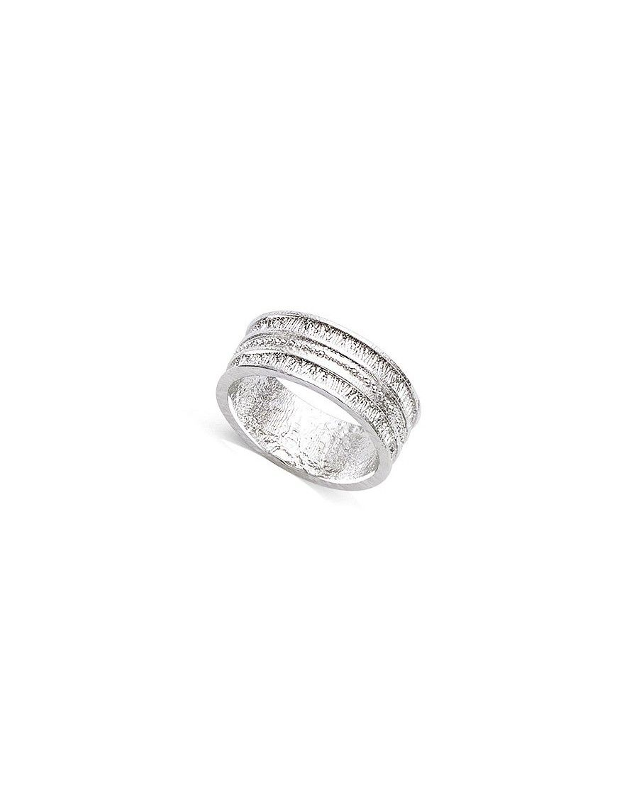 Anillo plata textura 11HW0490