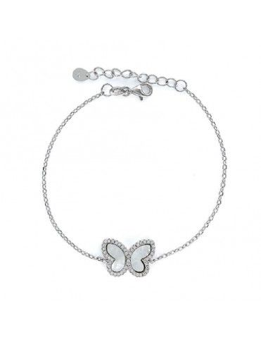 Pulsera de plata con mariposa 9100188