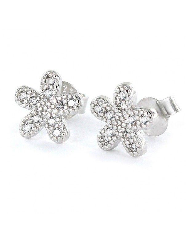 Pendientes de plata flor 9103886