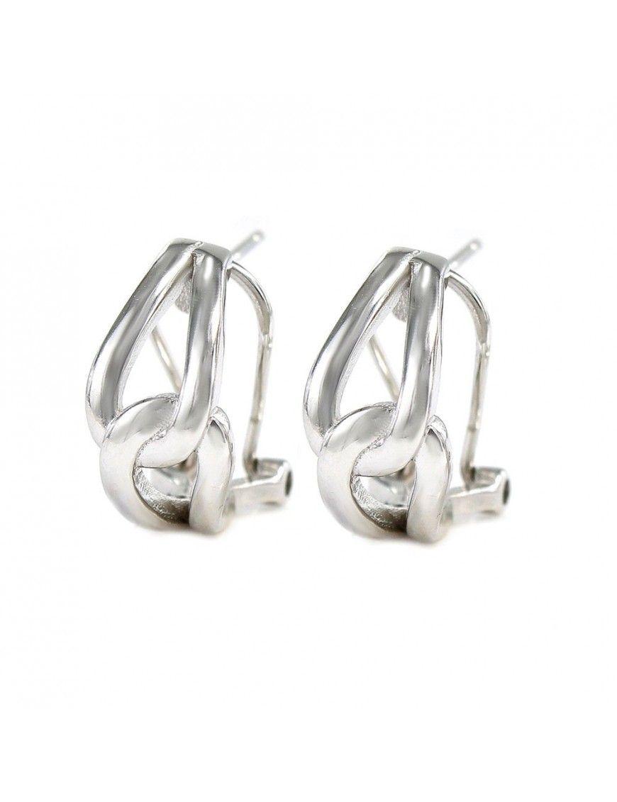 Pendientes plata diseño entrelazado 9104390