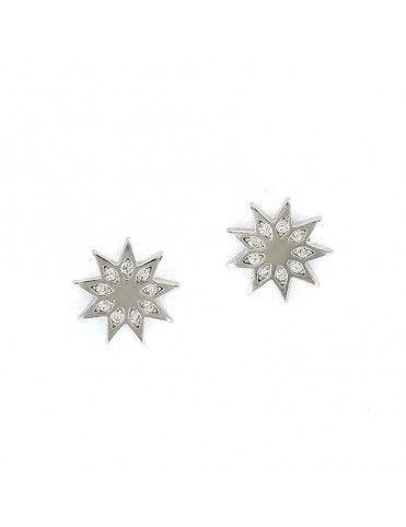 Pendientes de plata estrella 9 puntas 9106856