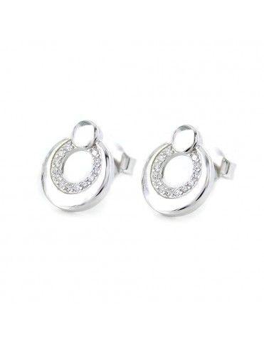 Pendientes de plata y circonitas 9107054